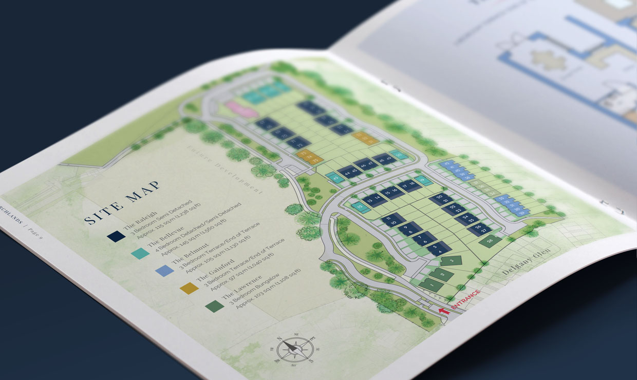 Chuchlands Site Plan - new home graphic design by Avalanche Design Dublin