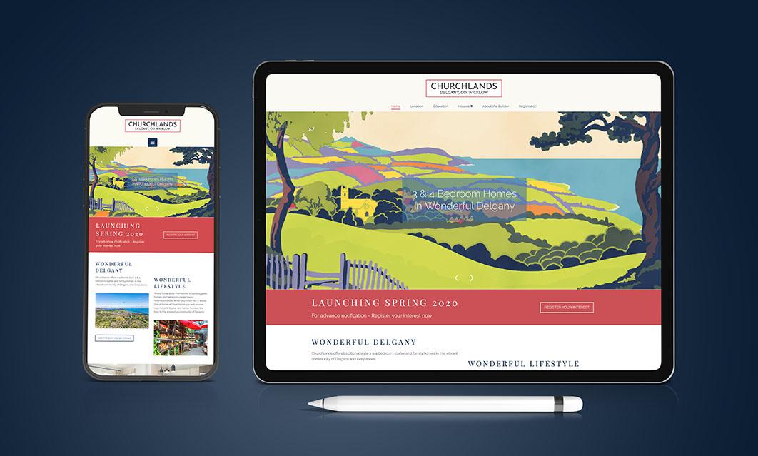 Churchlands Delgany website designed by Avalanche Design Dublin