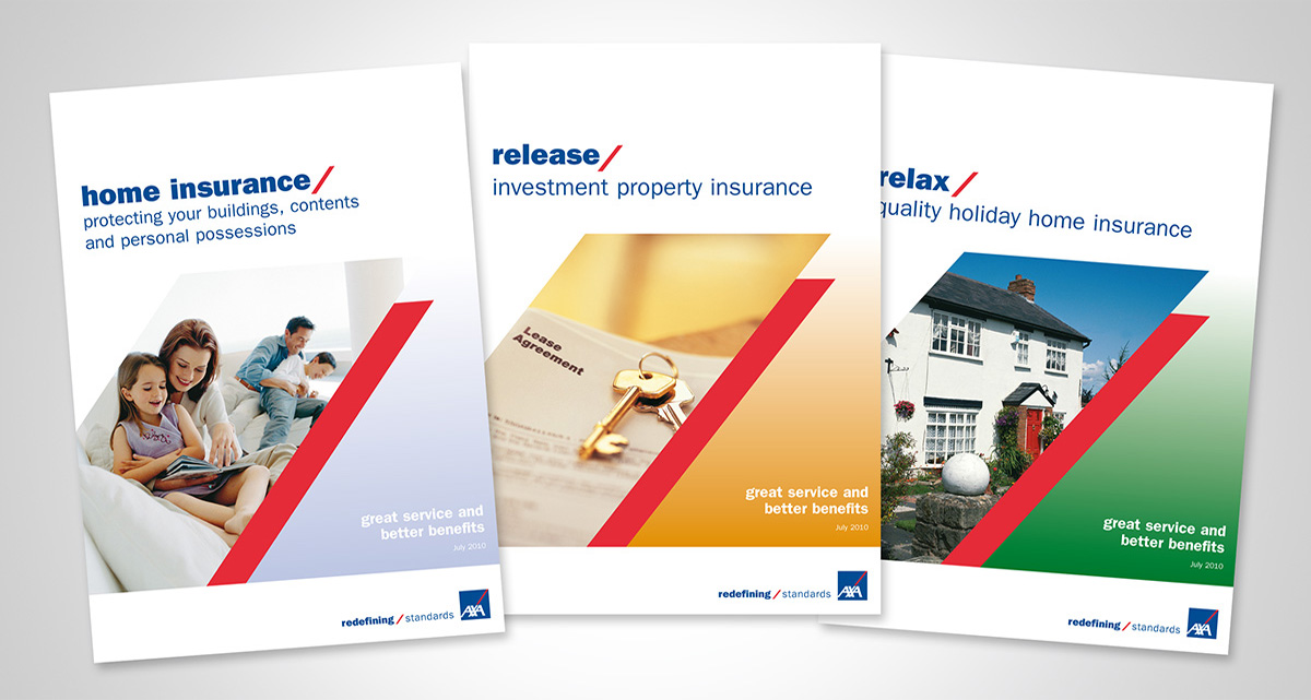 AXA Policy book design by Avalanche Design in Dublin