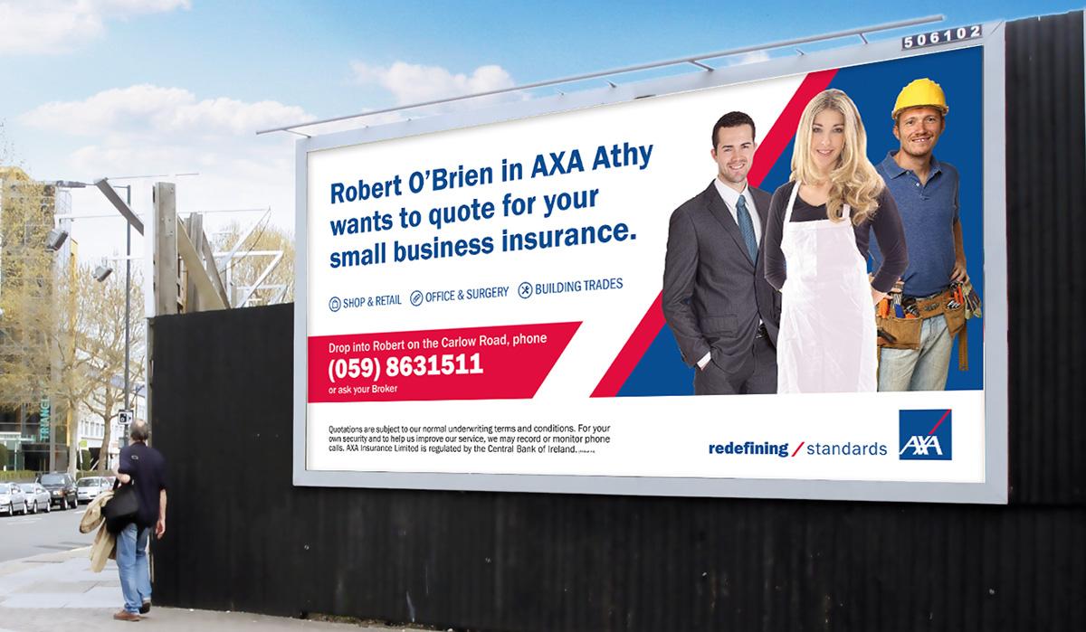 AXA 48 sheet outdoor marketing design