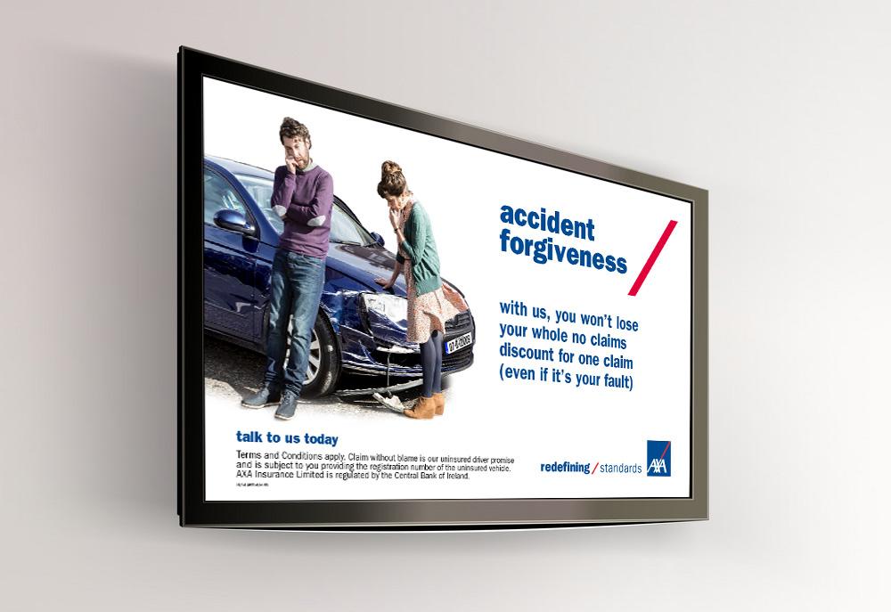 AXA TV screen poster design
