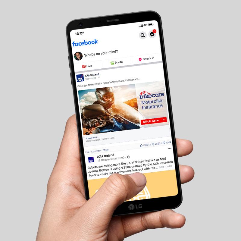 Facebook ad marketing and design
