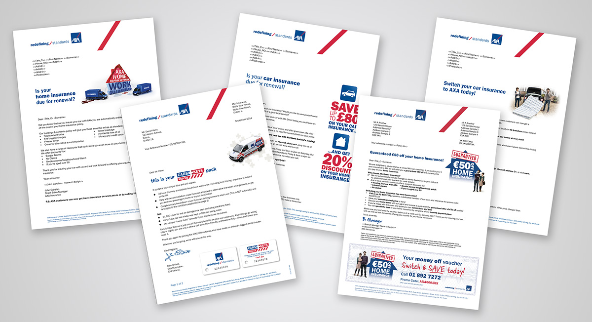 Direct Mail and Letterhead design by Avalanche Design in Dublin