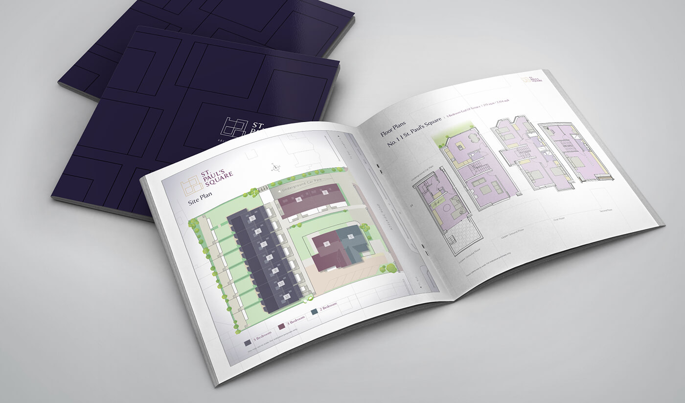 Brochure interior design by Avalanche Design - St. Paul's Square Glenageary
