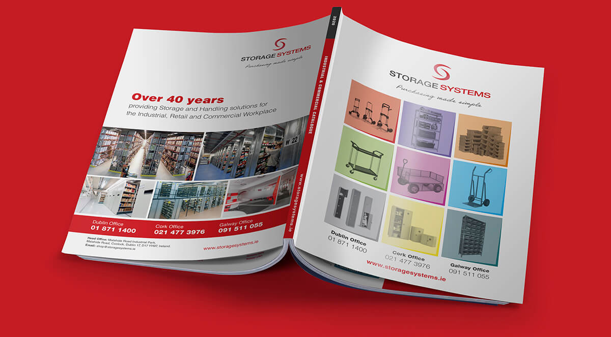 Storage Systems catalogue design by Avalanche Design