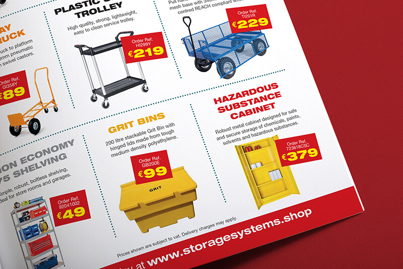 Storage Systems catalogue Ad by Avalanche Design
