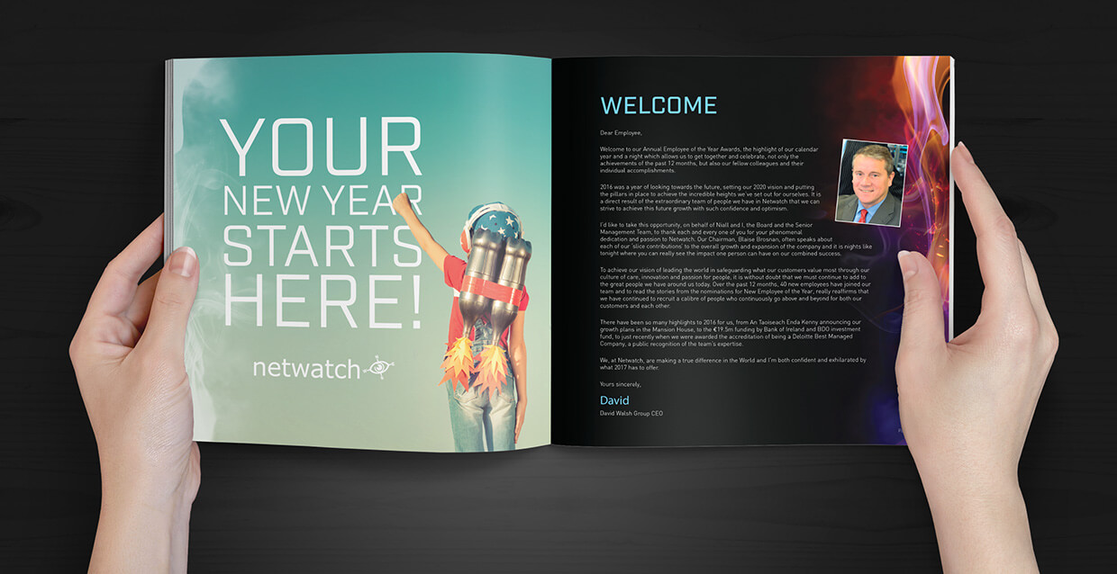 Netwatch Yearbook design by Avalanche Design in Dublin