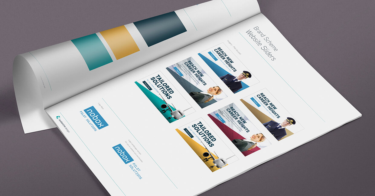 Nobox corporate identity look up book by Avalanche Design in Dublin