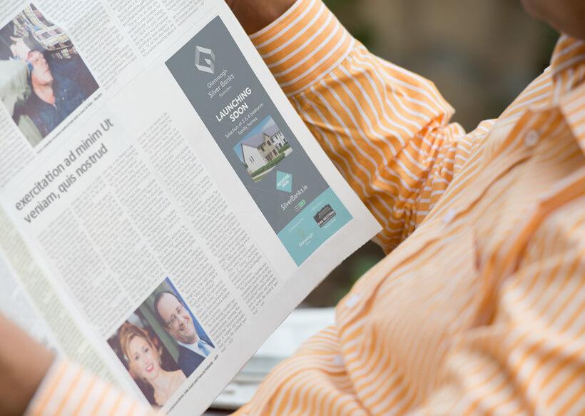 Glenveagh Silver Banks press ad by Avalanche Design in Dublin