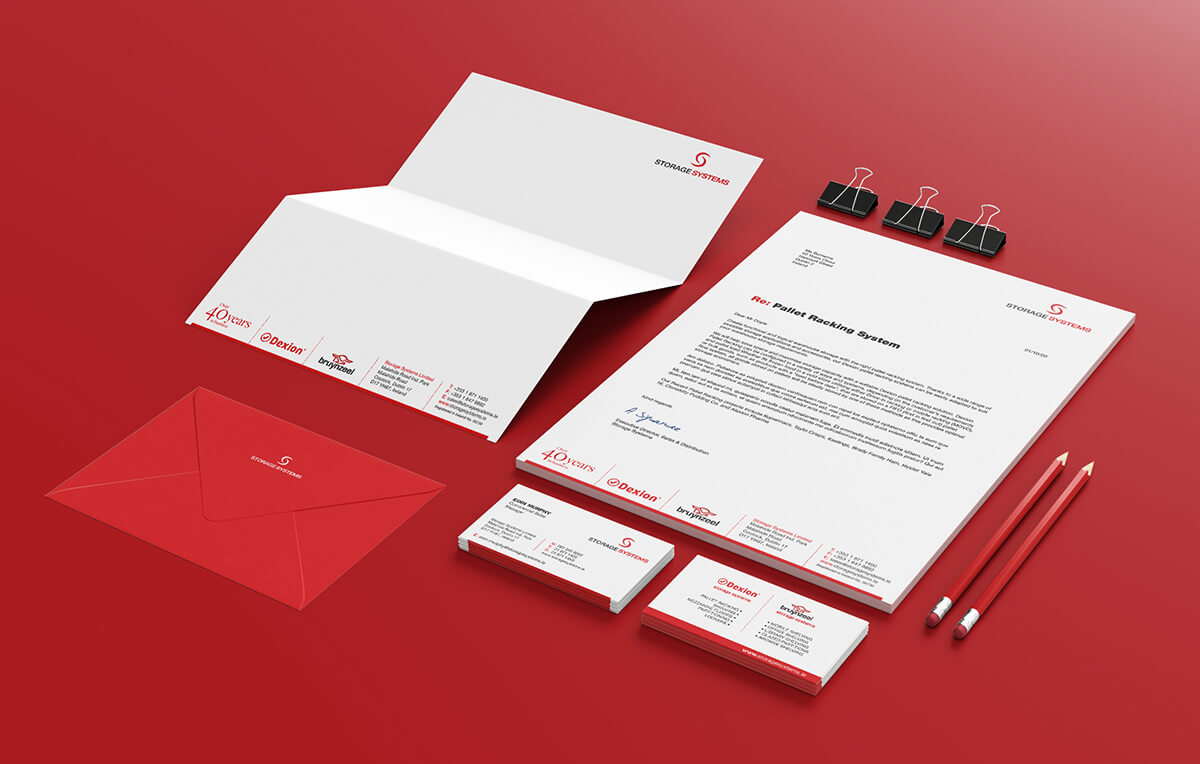 Stationery design by Avalanche Design for Storage Systems