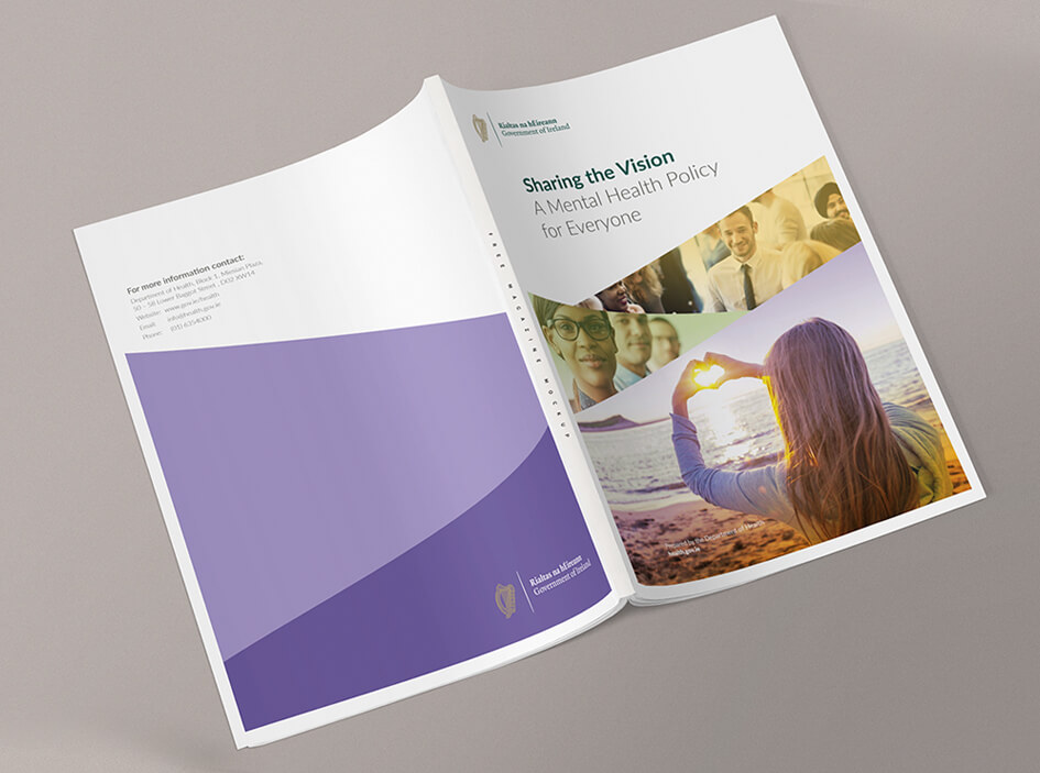 Sharing the Vision policy book design by Avalanche Design in Dublin